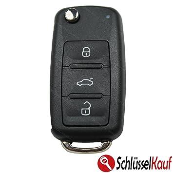 2x VW B6 3C B7 CC Magotan Ersatz Auto Schlüssel Gehäuse 3 Tasten Rohling Funk