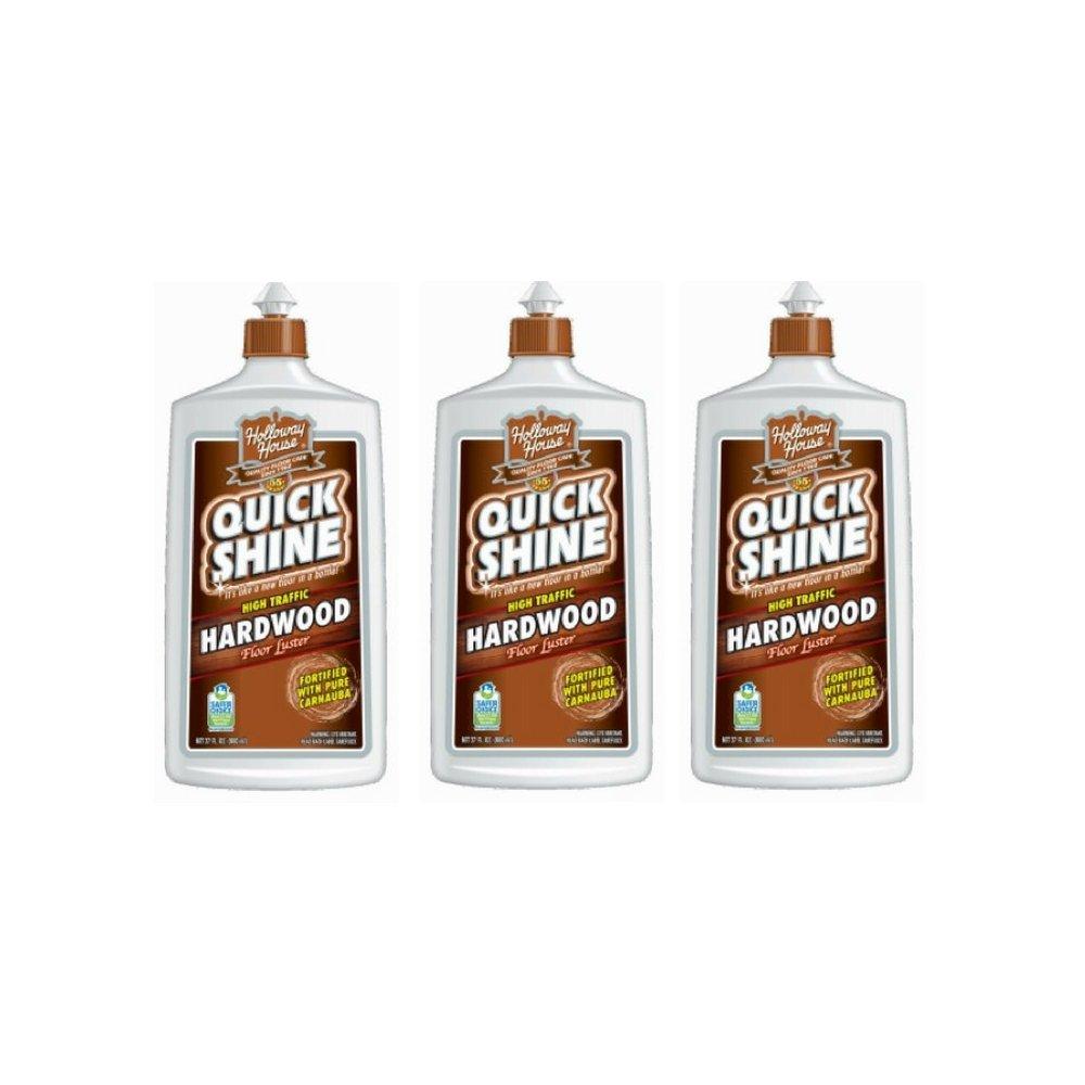 Quick Shine High Traffic Hardwood Floor Luster and Polish, 27 Fl. Oz. (3 Pack)