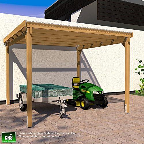 GHS Refugio de 3 x 3 m para asar, techado, Jardín dispositivos ...