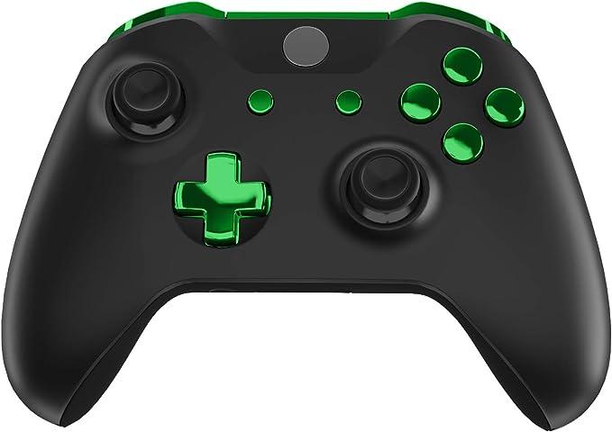 eXtremeRate Botones Completos para Xbox One S/X Botón de LB RB LT RT Bumpers Triggers Gatillos D-Pad ABXY Start Back Sync Botones con Herramientas para Xbox One S One X(Modelo 1708)-Verde Cromado: