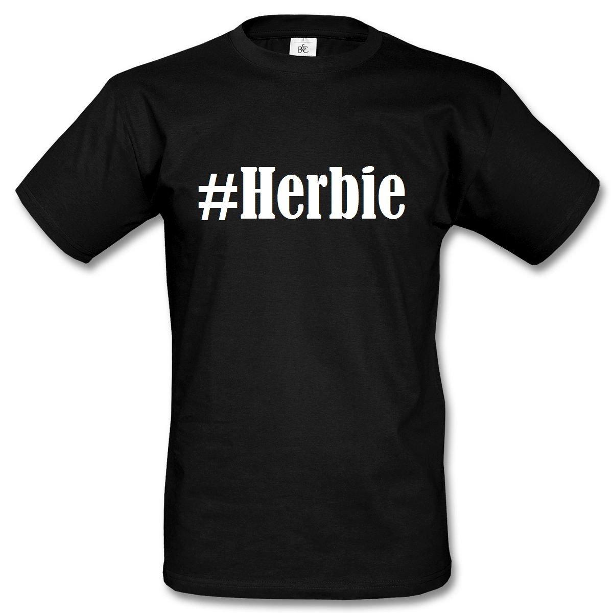 T-Shirt #Herbie Hashtag Raute für Damen Herren und Kinder ... in den Farben  Schwarz und Weiss: Amazon.de: Bekleidung