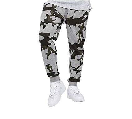 05bc36c9f70 Image Unavailable. Image not available for. Color  Nike Mens Club Fleece  Jog Pant Camo Track Pant Cuffed Tracksuit Bottoms Grey ...