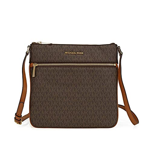 michael michael kors bedford flat crossbody brown handbags amazon com rh amazon com