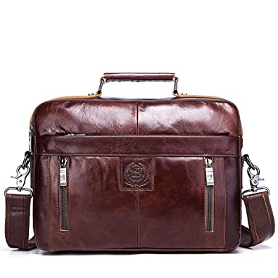 Image Unavailable. Image not available for. Color  FUZHINIAO New Genuine Leather  Bag Business Fashion Men Tote Briefcases Crossbody Bags Shoulder Handbag ... 17ffaaf58f