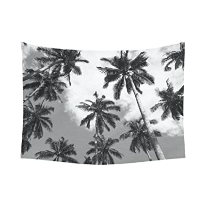Amazon Wall Art Home Decor Sky Coconut Palm Tree Black And