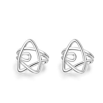 e7216e8d3448 Joyería Gnzoe Pendientes Mujer 1 Par Plata Estrella Clip de Oreja Pendiente  925 Plata Piercing Falso Clips de Oído  Amazon.es  Joyería
