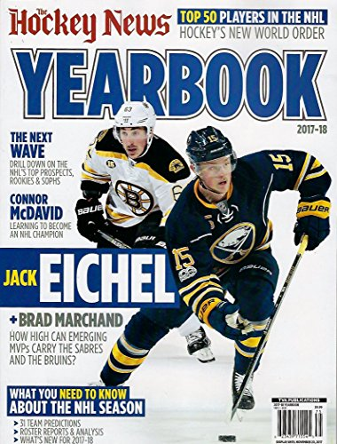 - The Hockey News 2017-2018 Yearbook 186 Pages Jack Eichel Brad Marchand