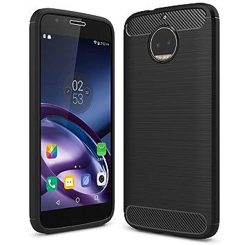 NALIA Funda Carbono Compatible con Motorola Moto G5S Plus, Protectora Movil Carcasa Cobertura Silicona Ultra-Fina Gel Bumper Estuche, Goma Telefono ...