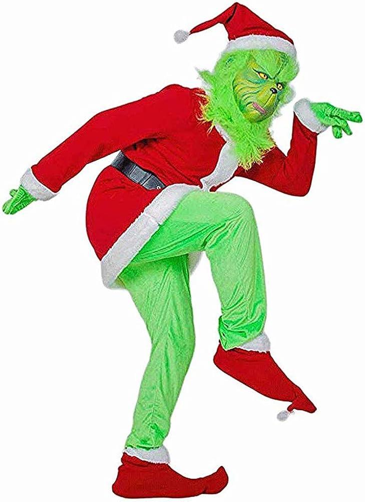 YBcars - Disfraz de Papá Noel para adultos con diseño de monstruo ...