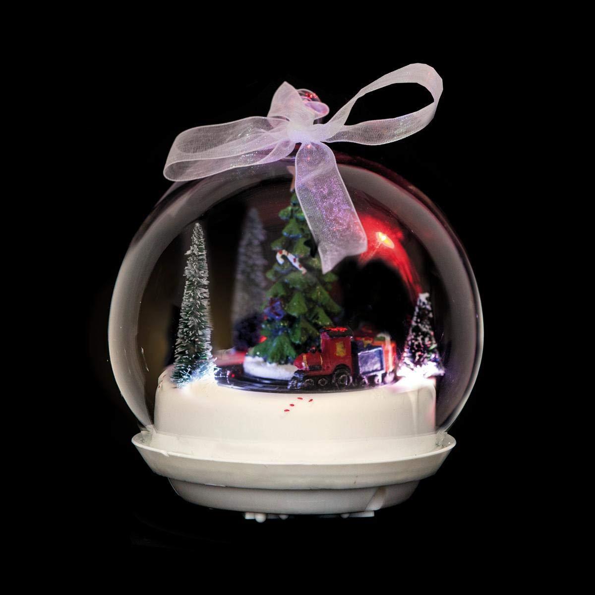 FEERIC CHRISTMAS - Boule de noë l Lumineuse & animé e 3 LED