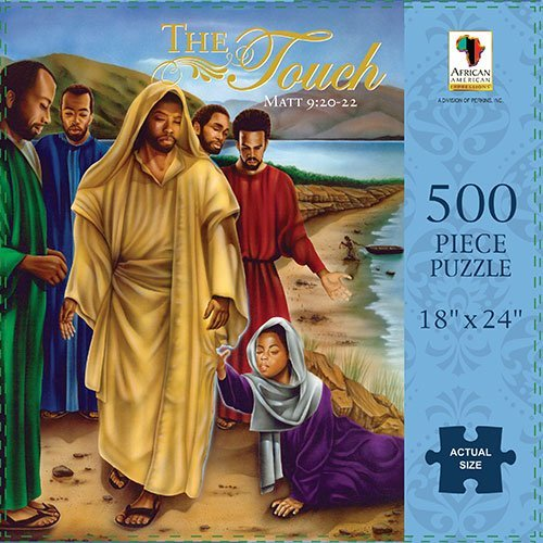 African American Expressions: The Touch (Matthew 9:20-22) 500pc Jigsaw Puzzle ()