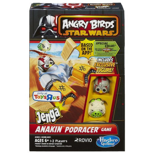 Angry Birds STAR WARS Jenga Anakin Podracer Game -