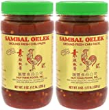 Sambal Oelek 06107 Ground Fresh Chili Paste 8 Oz (Pack of 2), Made of Chilies with No Other Additives Such as Garlic or…