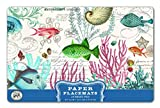 Michel Design Works 25 Count Sea Life Paper Placemats, Multicolor