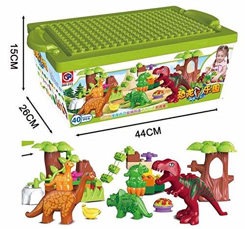 Worlds Largest Dinosaur (Lis 40Pcs/Lot Dino Valley Building Blocks Sets Large particles Animal dinosaur World Model toys Bricks Duploe No original box)