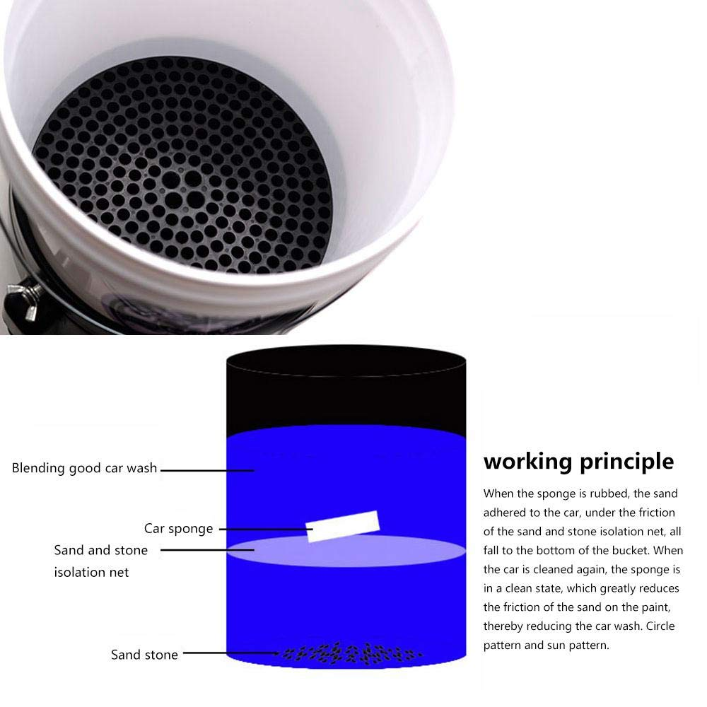 Prevent The Car from Being Scratched Separate Dirt from Your Sponge While Washing Your Car Umiwe Car Wash Grit Guard Bucket Insert