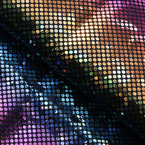 B'Dazzled Hologram Fabric | Fabric By The Yard (Rainbow) (B Rex Costume)