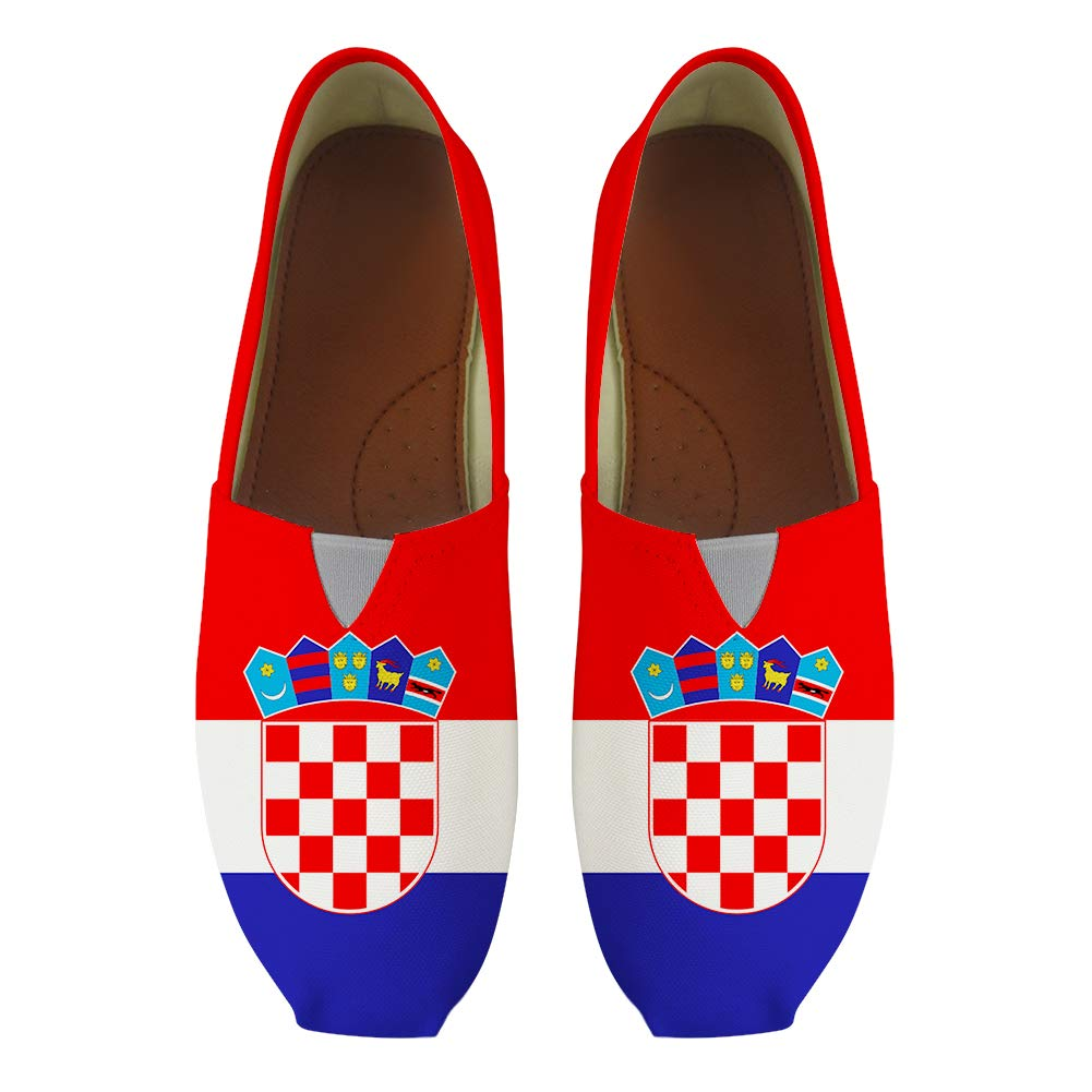 Classic Canvas Slip-On Lightweight Driving Shoes Soft Penny Loafers Men Women Croatia Flag