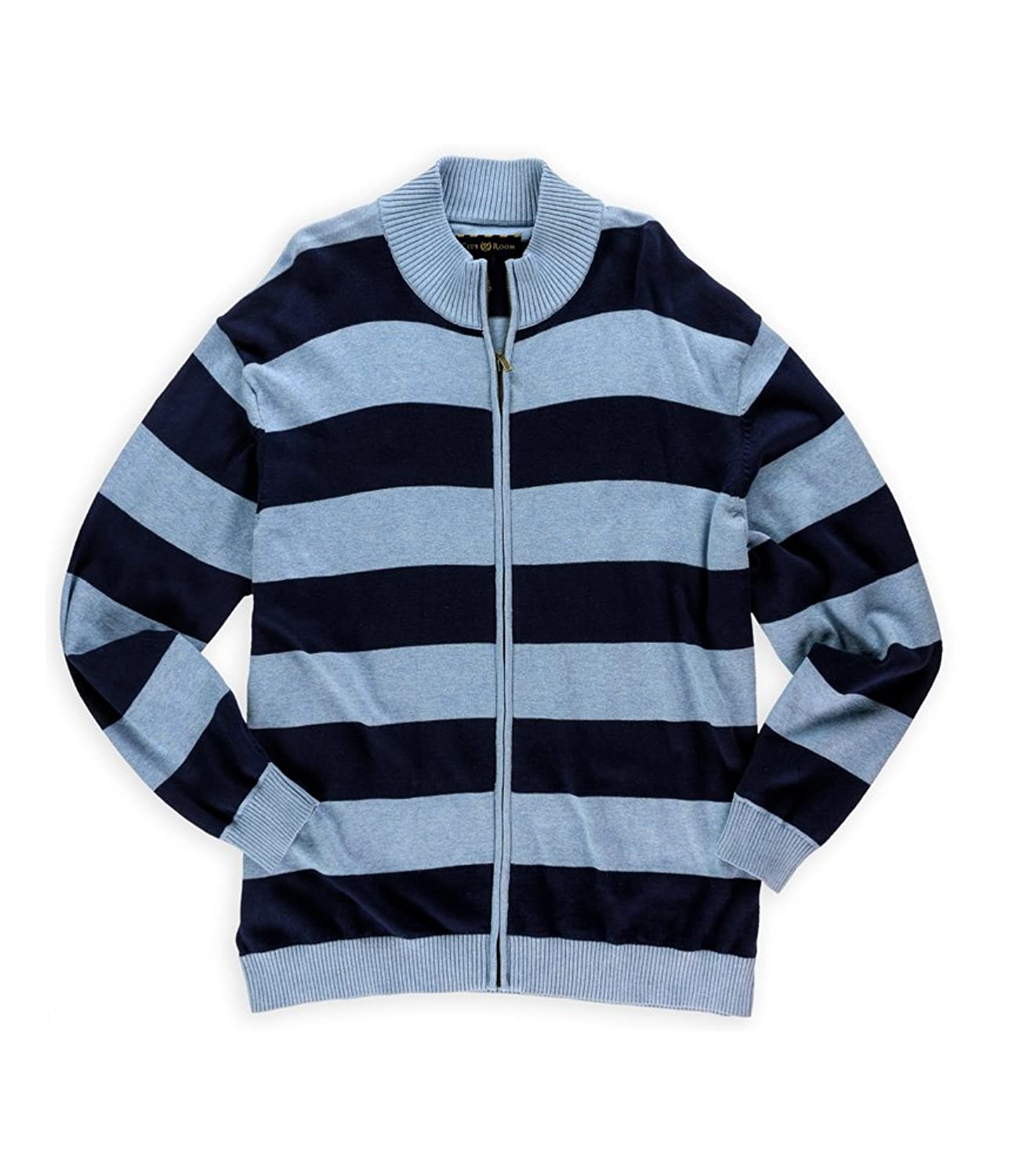 Club Room Mens Striped Knit Cardigan Sweater