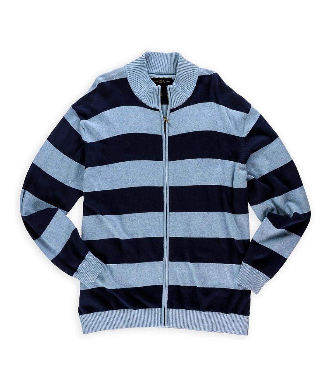 Club Room Mens Striped Knit Cardigan Sweater