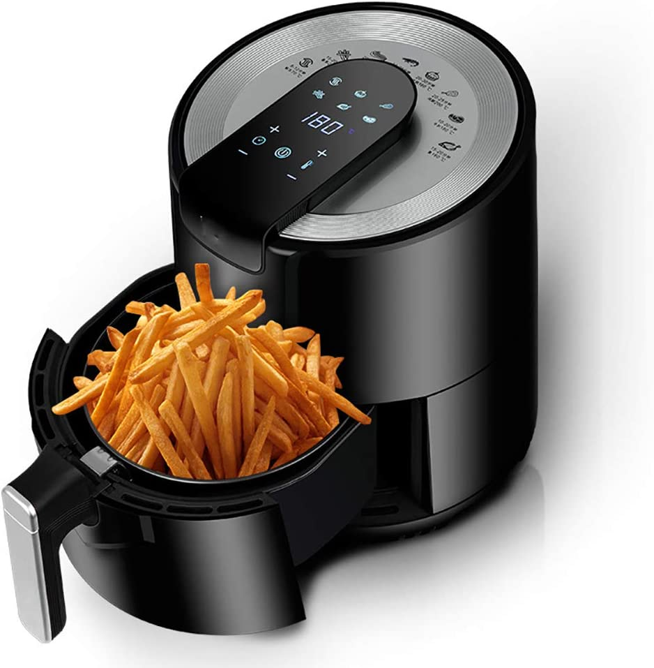 BTSSA 5.5L Air Fryer, Large Family Size Electric Hot Air Fryers XL Oven Oilless Cooker with 6 Presets, LCD Digital Touch Screen and Nonstick Detachable Basket,Temperature Control,1500W
