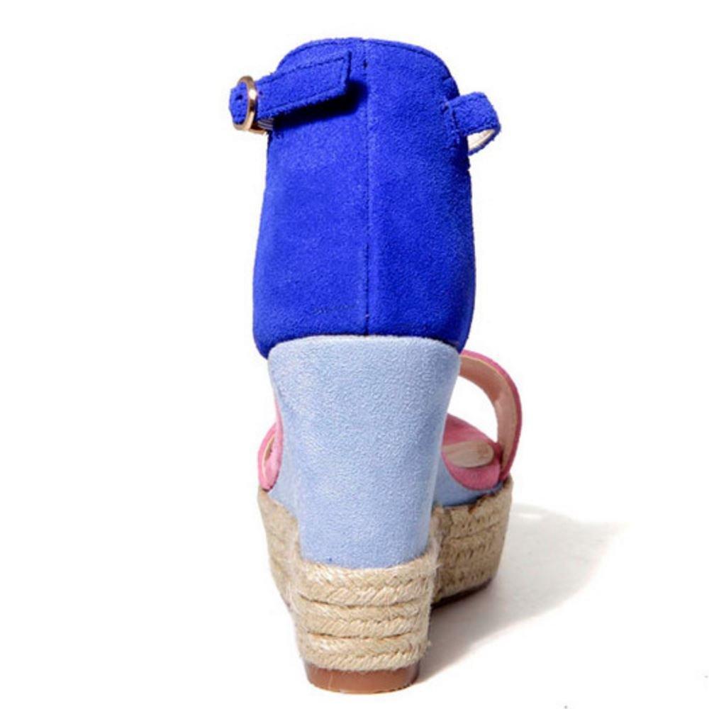 best sneakers 756ce bab85 ... Zanpa Women Fashion Wedges Heels Sandals B07CCMXVHS 3 3 3 US (sole  length 22 CM ...