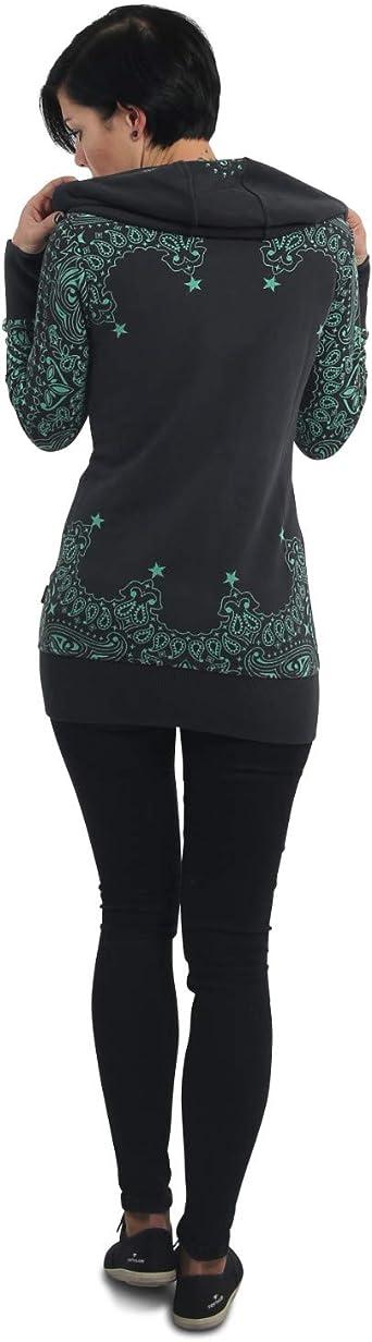 Yakuza Tijuana Long Zip bluza z kapturem damska - XS: Odzież