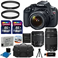 Canon EOS Rebel T5 18MP EF-S Digital SLR Camera Bundle with Lens, Bag and Accessories (15 Items) Benefits Review Image
