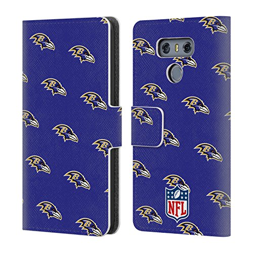 - Official NFL Patterns 2017/18 Baltimore Ravens Leather Book Wallet Case Cover for LG G6 / G6 Dual