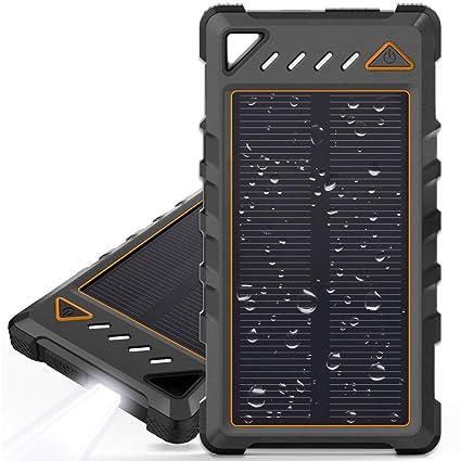 Amazon.com: BEARTWO - Cargador solar portátil de 10000 mAh ...