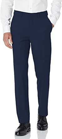 Haggar Men's 4-Way Stretch Solid Gab Slim Fit Suit Separate Pant