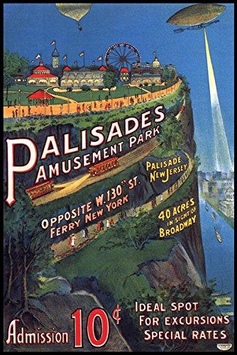 WONDERFULITEMS Palisades Amusement Park New Jersey Broadway Zeppelin Balloon 12
