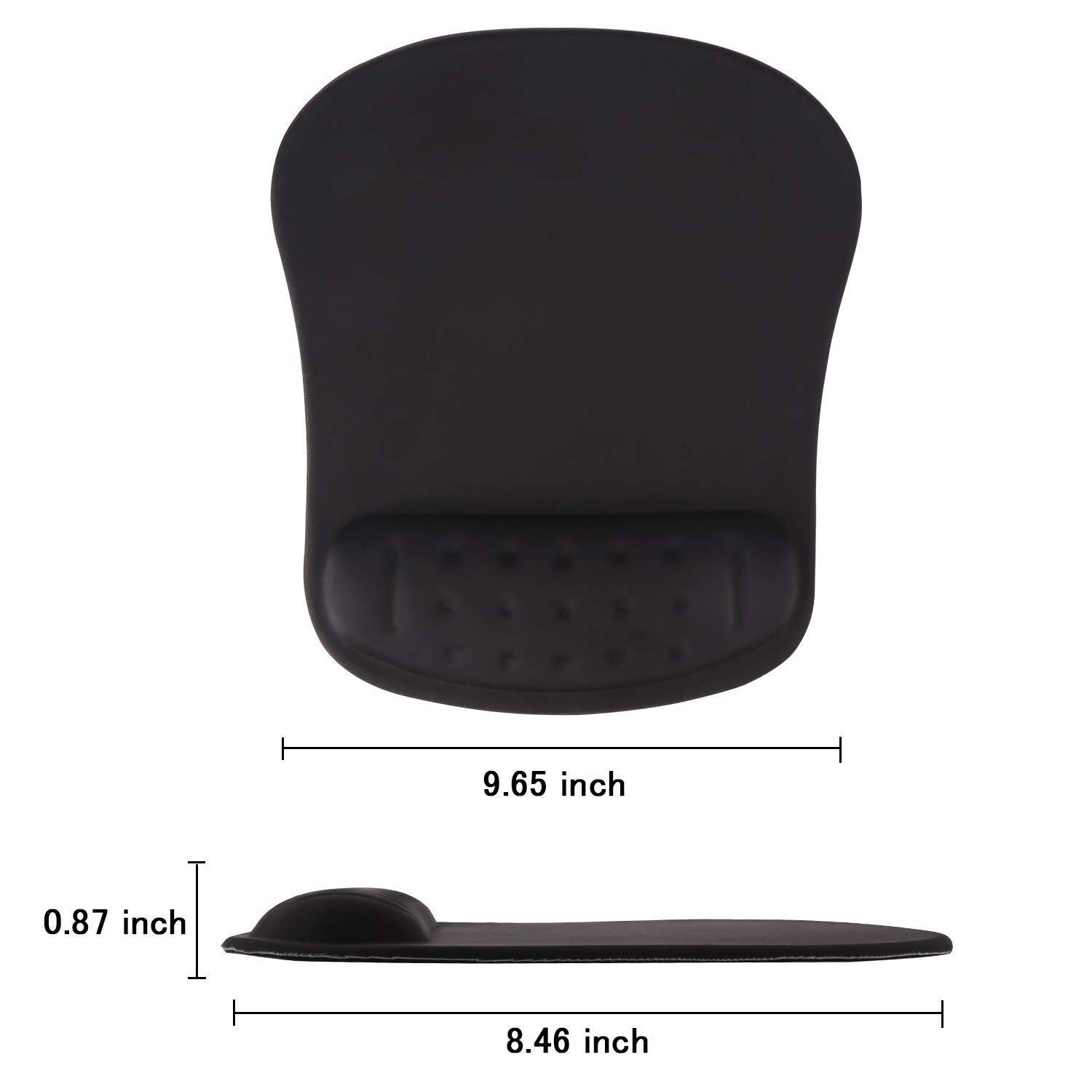 Keyboard Wrist Rest Pad and Mouse Wrist Rest Haocoo Support Mouse Pad Durable /& Comfortable /& Lightweight for Easy Typing /& Pain Relief-Ergonomic Support Grey