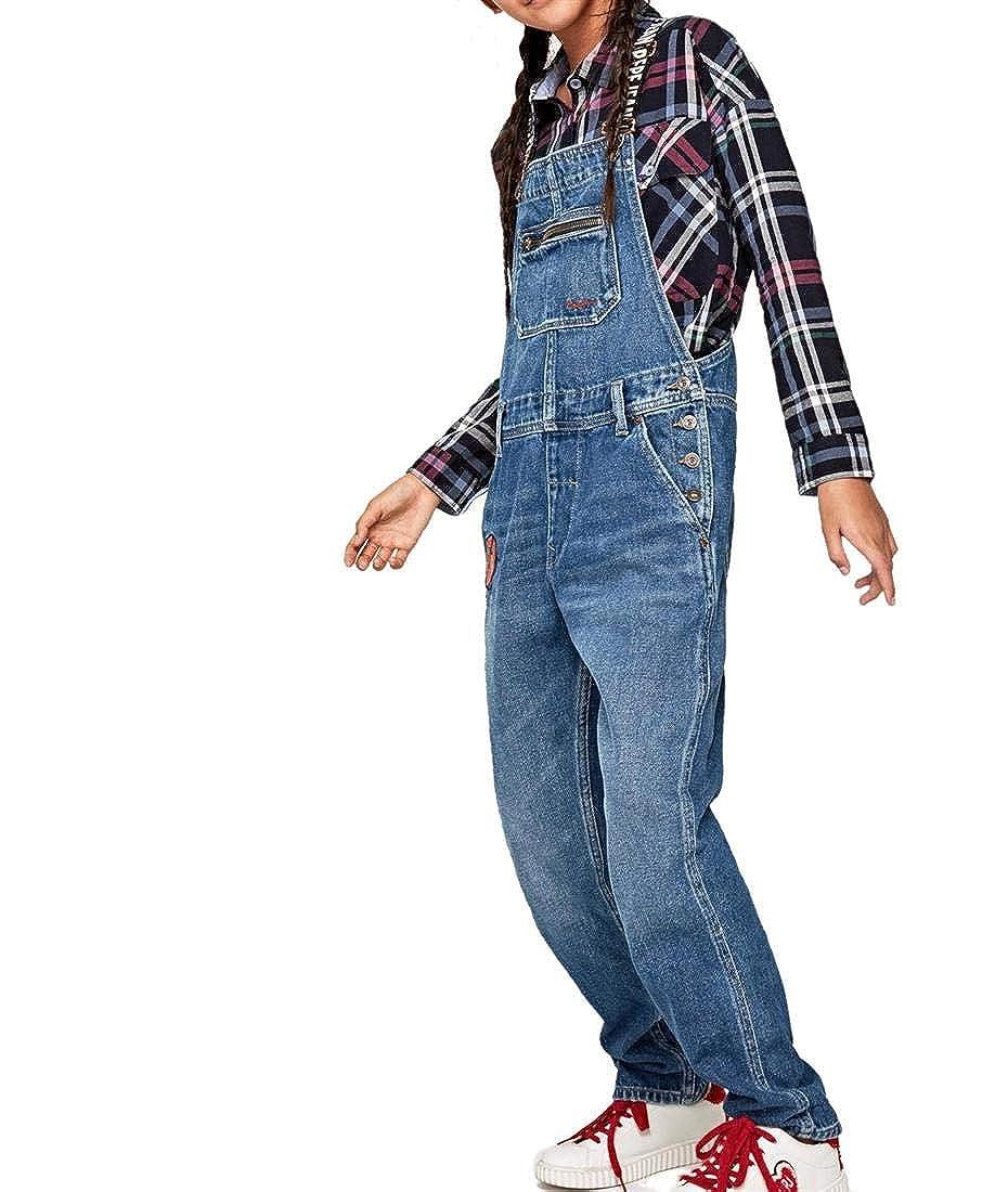 8 ans Pepe Jeans - Salopette - Fille Bleu Denim