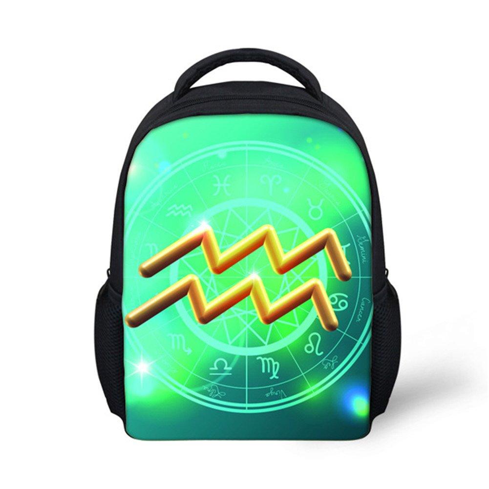 Preschool Backpack, Little Kid Backpacks for Boys and Girls Zodiac Sign Aquarius