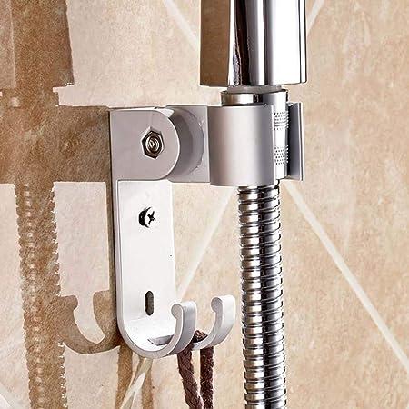 aluminum adjustable bathroom shower head holder stand bracket wall mount hook HI