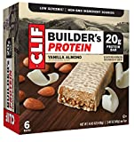 CLIF BUILDER'S – Protein Bar – Vanilla Almond – (2.4 Ounce Non-GMO Bar, 6 Count) For Sale