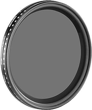58 mm filtro de densidad neutra ND variable Ajustable Fader Slim ND2 a ND400