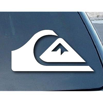 """Quiksilver Surf Car Window Vinyl Decal Sticker 4"""" Wide (Color: White) CCI189: Automotive"""