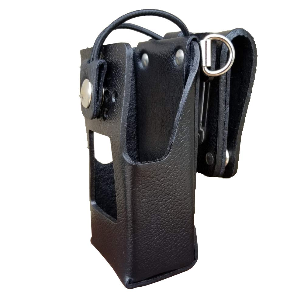 Case Guys KW9065-3BWD Hard Leather Swivel Belt Loop Holster Case with Bungee Cord for Kenwood NX-3220 NX-3320 Two Way Radios