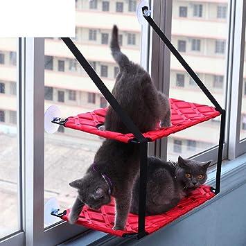 XDYFF Hamaca para Ventana de Gato Colchoneta Colgante para Ventosa para Animales pequeños Ventana para Colgar Cama para Gatos,Red: Amazon.es: Deportes y ...