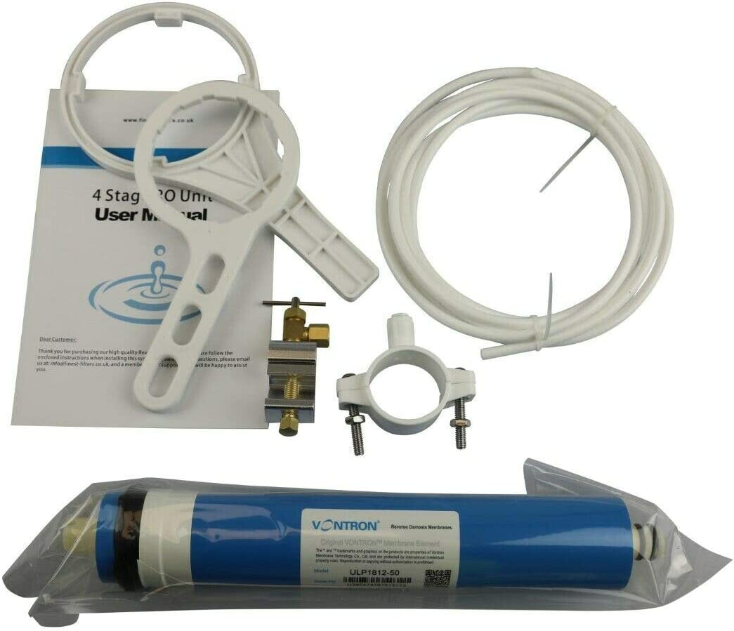 Finest-Filters Reverse Osmosis RO Unit with Booster Pump and DI Stage Pumped 50-100gpd 75gpd