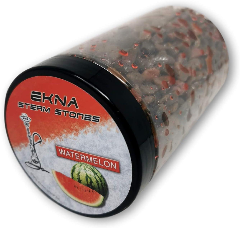 EKNA® Steam Stones Watermelon 500 g - Piedras para cachimba (sabor afrutado, sabor intenso, piedras de vapor, granulado de sandía, 500 g)