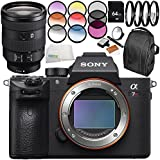 Sony Alpha a7R III Mirrorless Digital Camera with Sony FE 24-105mm f/4 G OSS Lens 10PC Accessory Bundle – Includes 64GB SD Memory Card + MORE