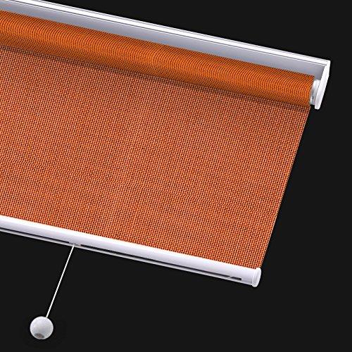 Blinds Light Orange Filtering (PASSENGER PIGEON Solar Window Shades, Premium Free-Stop Cordless Light Filtering UV Protection Flame Retardant Water Proof Custom Made Roller Shade,65