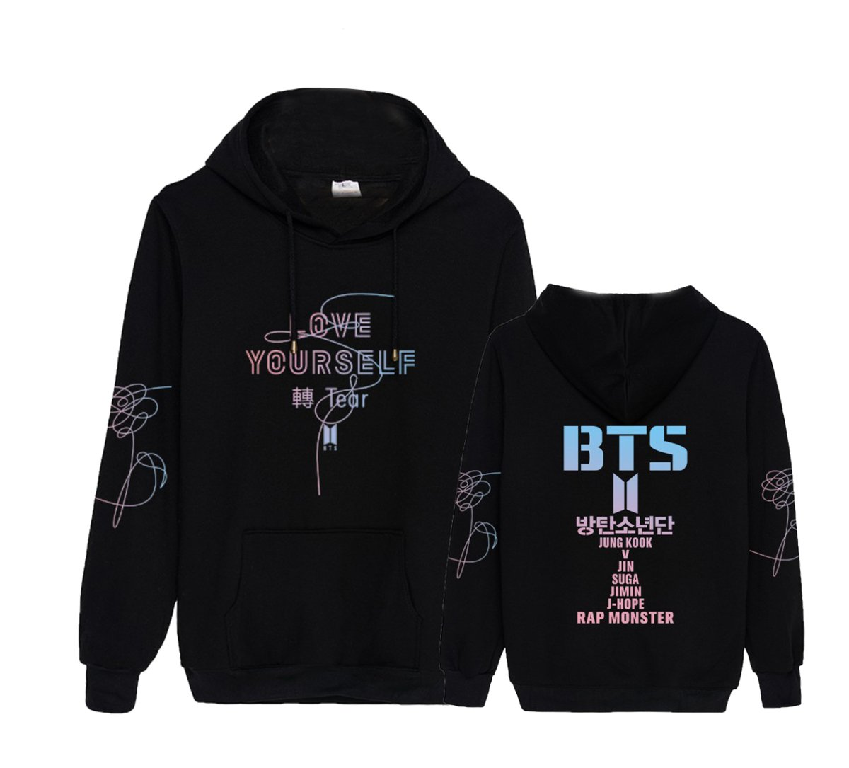 Kpop BTS Love Yourself Hoodie J-Hope Jimin Jung Kook V Pullover Sweater by ACEFAST INC (Image #1)