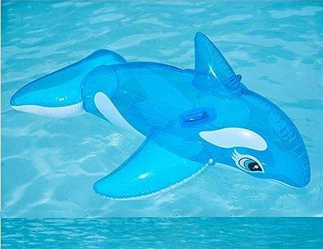 Lvmiao Transparente Ballena Azul Flotante Cama Flotante Inflable Camas Flotantes Piscina Al Aire Libre Esencial Adecuado
