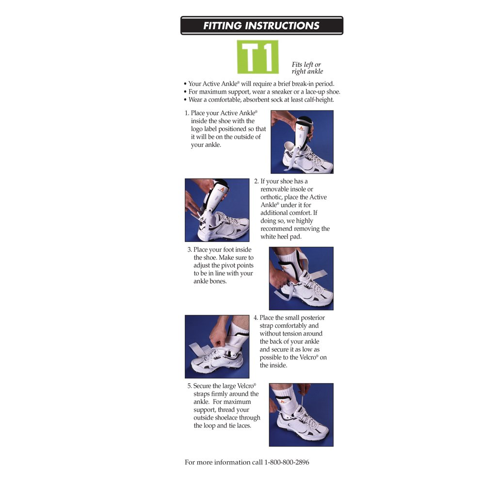 Active Ankle T1 Rigid Ankle Brace For Injured Ankle Protection and Sprain Support, L, White by Cramer (Image #3)