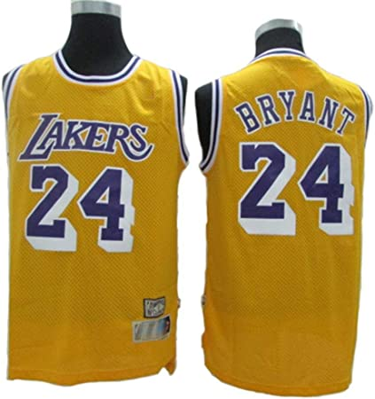Fans Jersey All-Star NBA Kobe Bryant 24 Los Angeles Lakers Ropa De Baloncesto Clásica Cómodas Camisetas Deportivas De Malla Transpirable,Yellow-M: Amazon.es: Hogar
