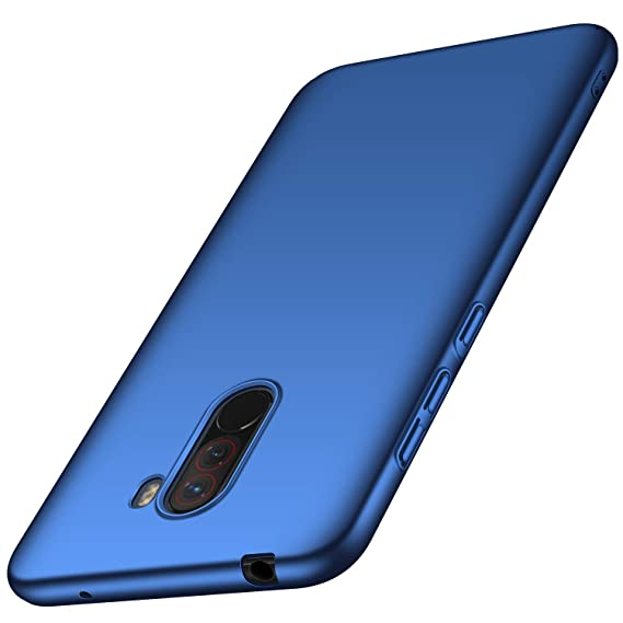 Avalri Compatible for Xiaomi Pocophone F1 Case, Ultra Thin Anti-Fingerprint and Minimalist Hard PC Cover for Xiaomi Pocophone F1 (Silky Blue)